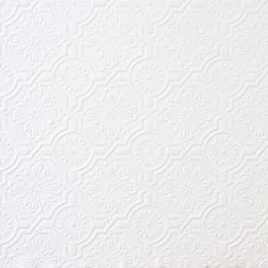Brewster 148-32817 Paintable Solutions III Victorian Tin Ceiling Paintable Wallpaper,White