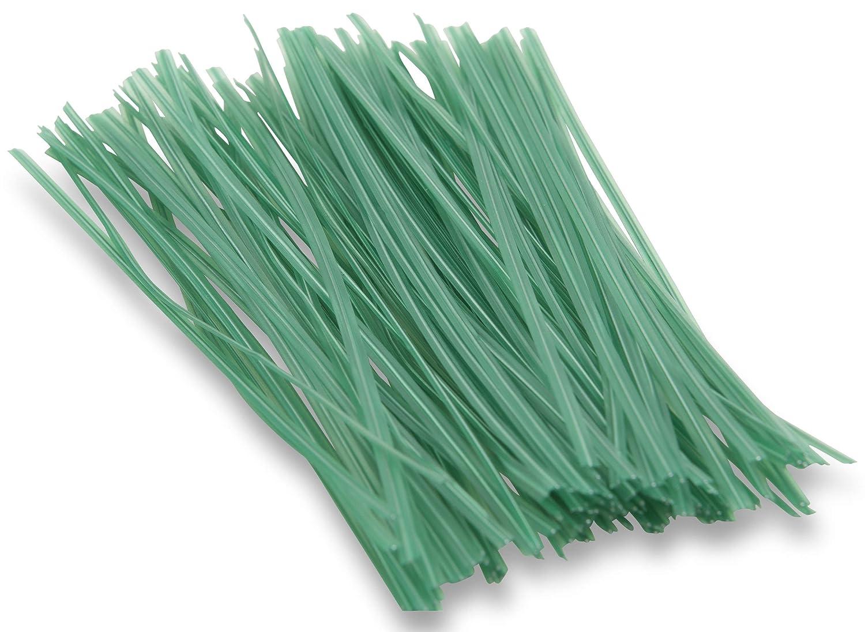 Windhager Pflanzenbinder Drehbinder Drahtstreifen Bindedraht Pflanzen-Anbinder, zum Blumenbinden oder Basteln, 100 Stück, Grün; 06217 100 Stück Grün; 06217