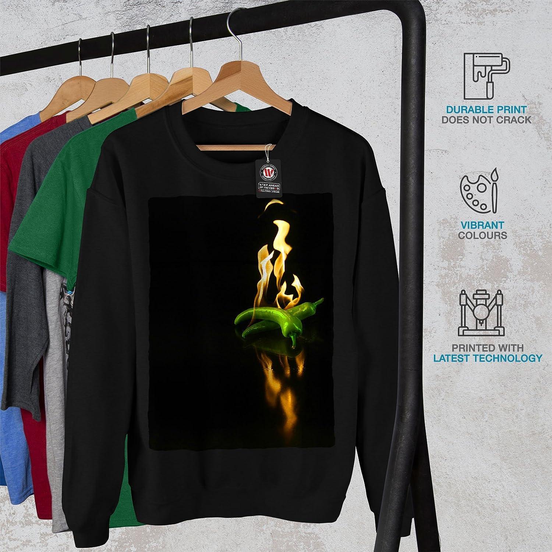 Jalapeno Casual Jumper wellcoda Burning Chili Pepper Mens Sweatshirt