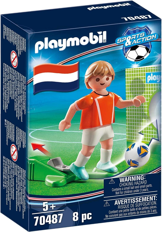 70487 PLAYMOBIL- Sports /& Action Jugador de F/útbol Multicolor Holanda