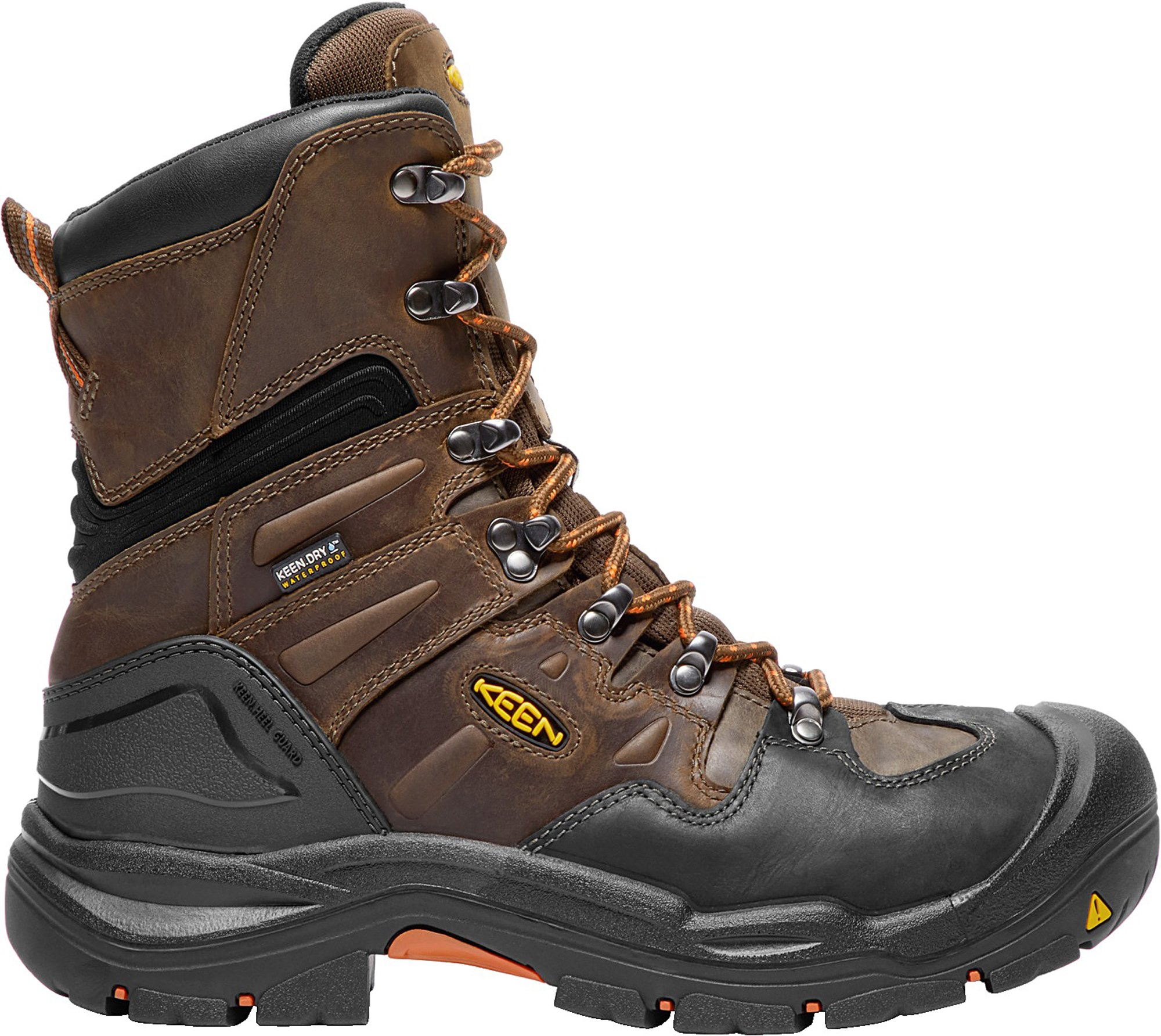 KEEN Utility Coburg 8'' WP (Steel Toe), Men's Waterproof Work Boot, Cascade Brown/Brindle, 7 EE