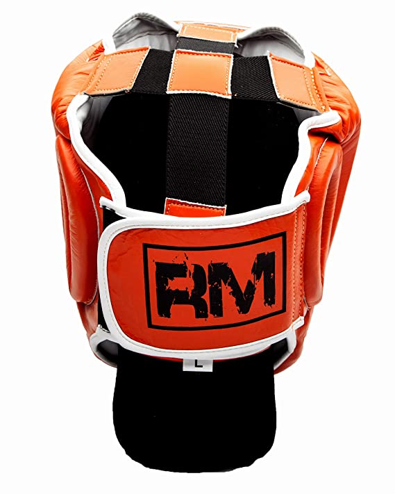 Black//White RingMasterUK Genuine Leather Body Protector Chest Guard Boxing MMA Muay Kick