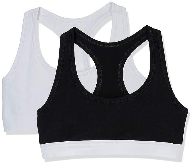 1dba00d6aa Amazon.com  XoDó Intimates Women s Comfortable Sport Bralette 2 Pack ...