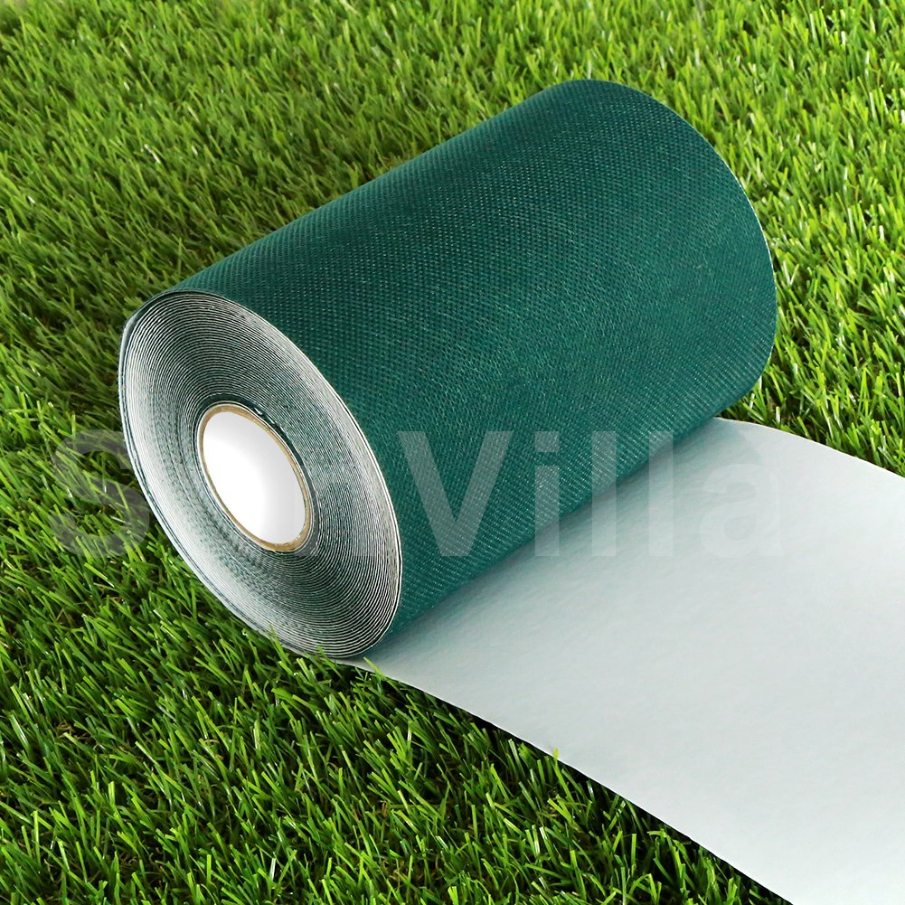 SunVilla Artificial Grass Green Joining Fixing Turf Tape Self Adhesive Lawn Carpet Seaming Tape -6 IN x 33 FT (15 cm X 10 m)