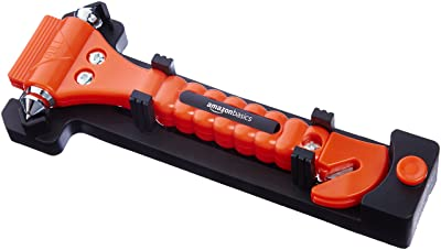 AmazonBasics Emergency Seat Belt Cutter and Window Hammer Tool