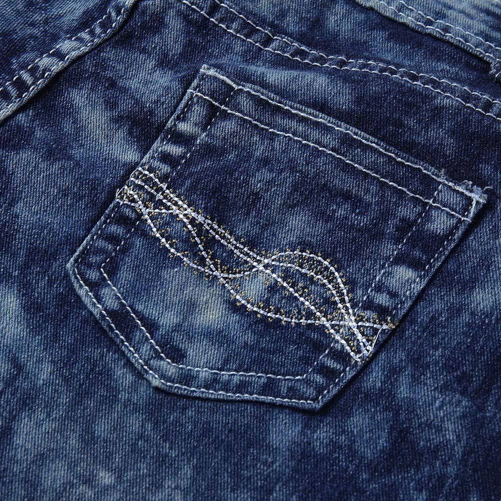 Strir Mujer Rectos Vaqueros Anchos Push Up Boyfriend Jeans Retro Rotos Elasticos Pantalones Vaqueros Ropa