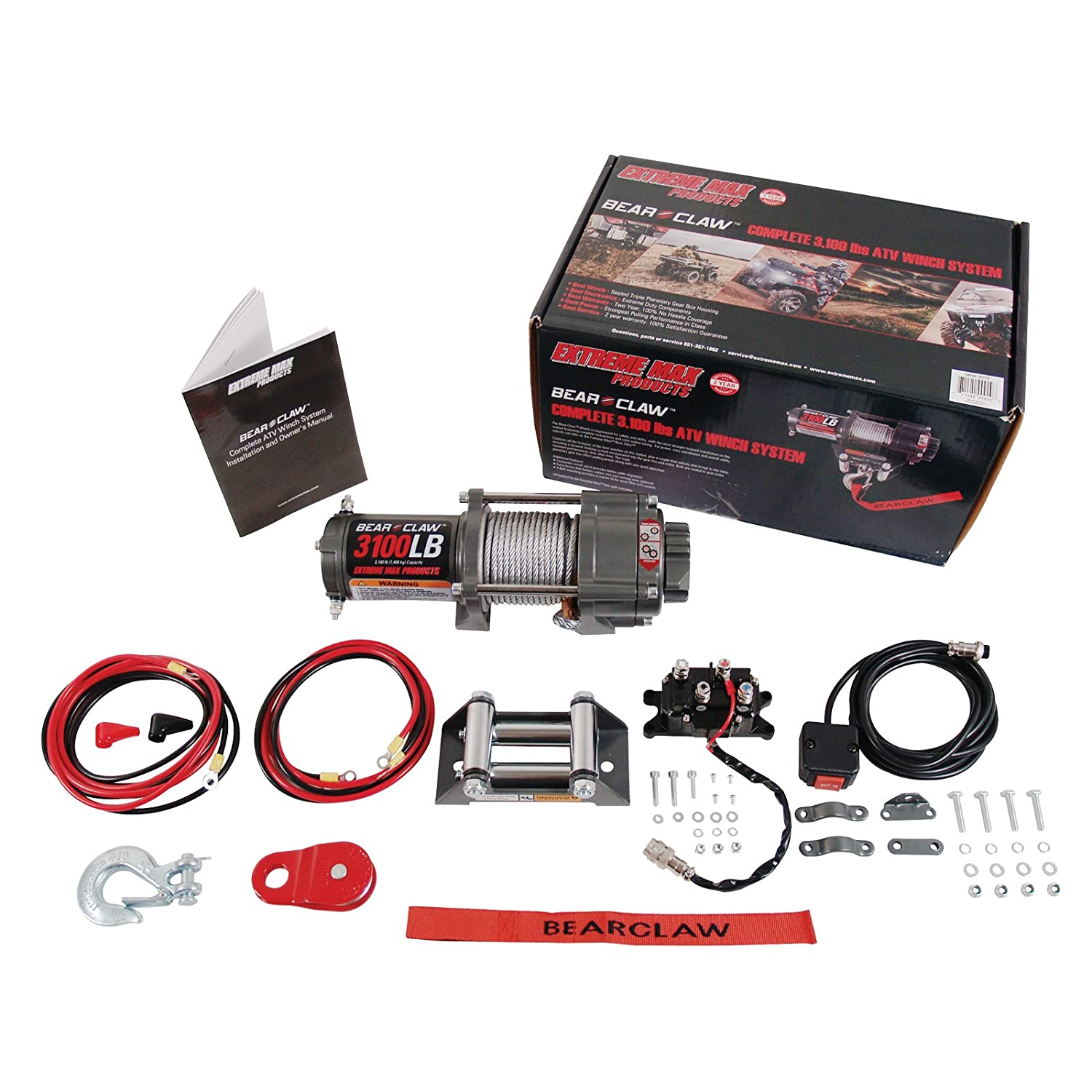 Prime Amazon Com Extreme Max 5600 3072 Bear Claw Atv Utv Deluxe Winch Wiring Digital Resources Remcakbiperorg