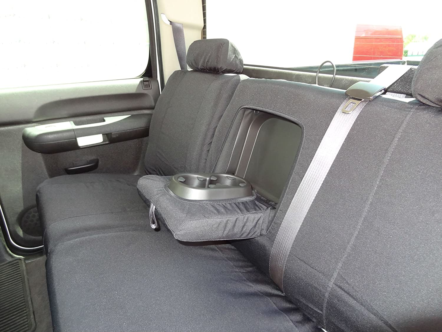 Durafit Seat Covers 2007 2013 Chevy Silverado And Gmc 1942 Truck Sierra Double Cab Exact Fit Rear Waterproof In Black Endura Fabric Automotive