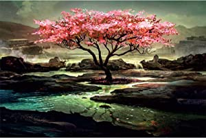 Ingooood-Jigsaw Puzzle 1000 Pieces-Tranquil Series-Single Tree in The Creek_IG-1327 Entertainment Toys for Adult Special Graduation or Birthday Gift Home Decor
