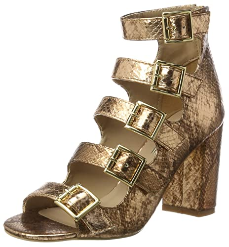 Womens 316-5971-2 Metallic Snake Pu Wedge Heels Sandals Buffalo Oeaib7