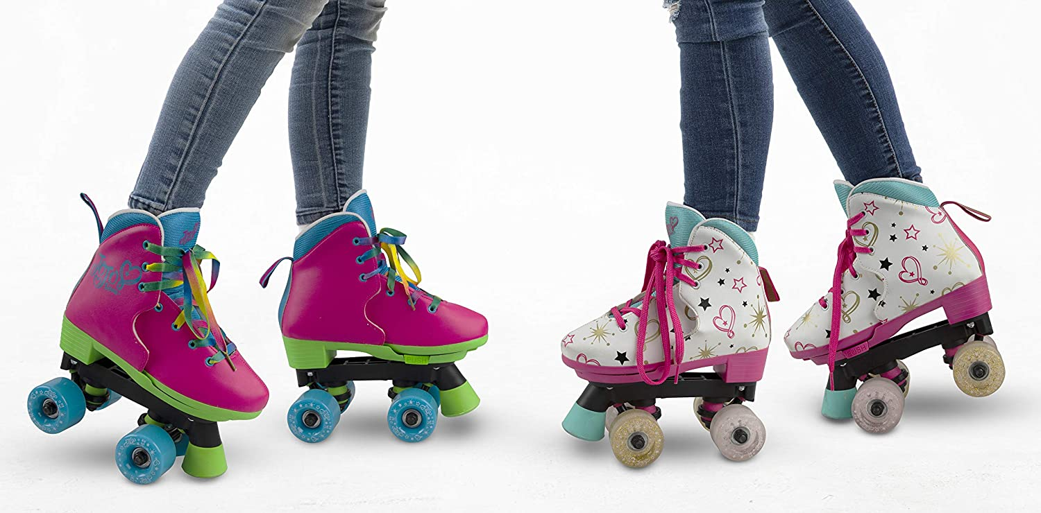 JoJo Siwa Party in Pink Sizes 3-7 Multicolor Circle Society Classic Adjustable Indoor /& Outdoor Childrens Roller Skates