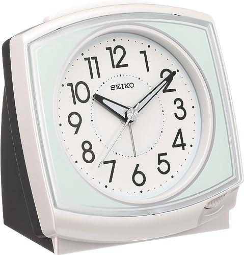 SEIKO CLOCK Seiko clock Standard analog quartz alarm clock angle white KR891W