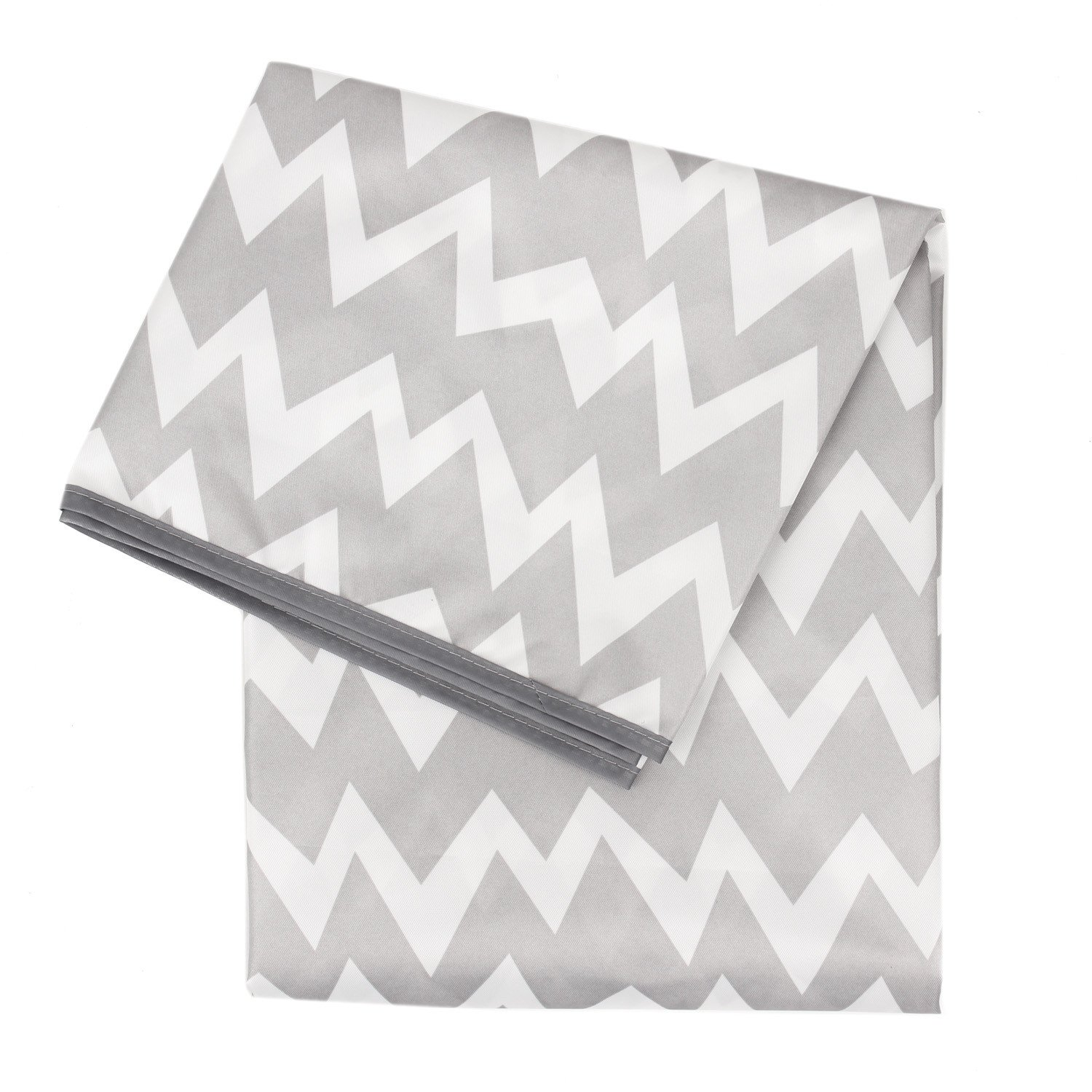 Bumkins Splat Mat, Waterproof, Washable for Floor or Table, Under Highchairs, Art, Crafts, Playtime 42x42 - Gray Chevron