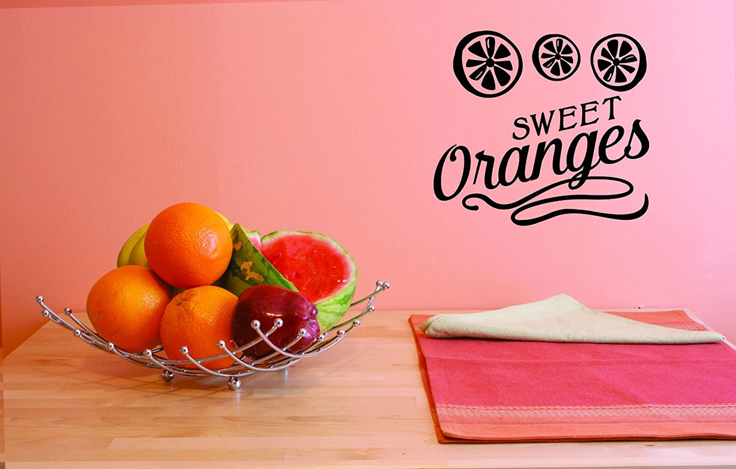Design with Vinyl JER 1816 1 Hot New Decals Sweet Oranges Wall Art Size x 12 Inches Color Black 12 x 12
