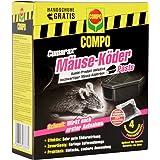 Compo Curamax Mäuse-Köder Paste Inklusive Mäuse-Köderbox, Anwendungsfertige Portionsbeutel, 40 g