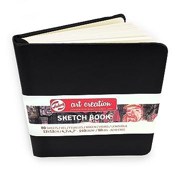 Royal Talens Hardback Sketchbook Art Creation 80 Sheets 140gsm 12 x 12cm Page