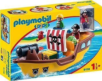 Oferta amazon: PLAYMOBIL 1.2.3 Barco Pirata, a Partir de 1.5 Años (9118)