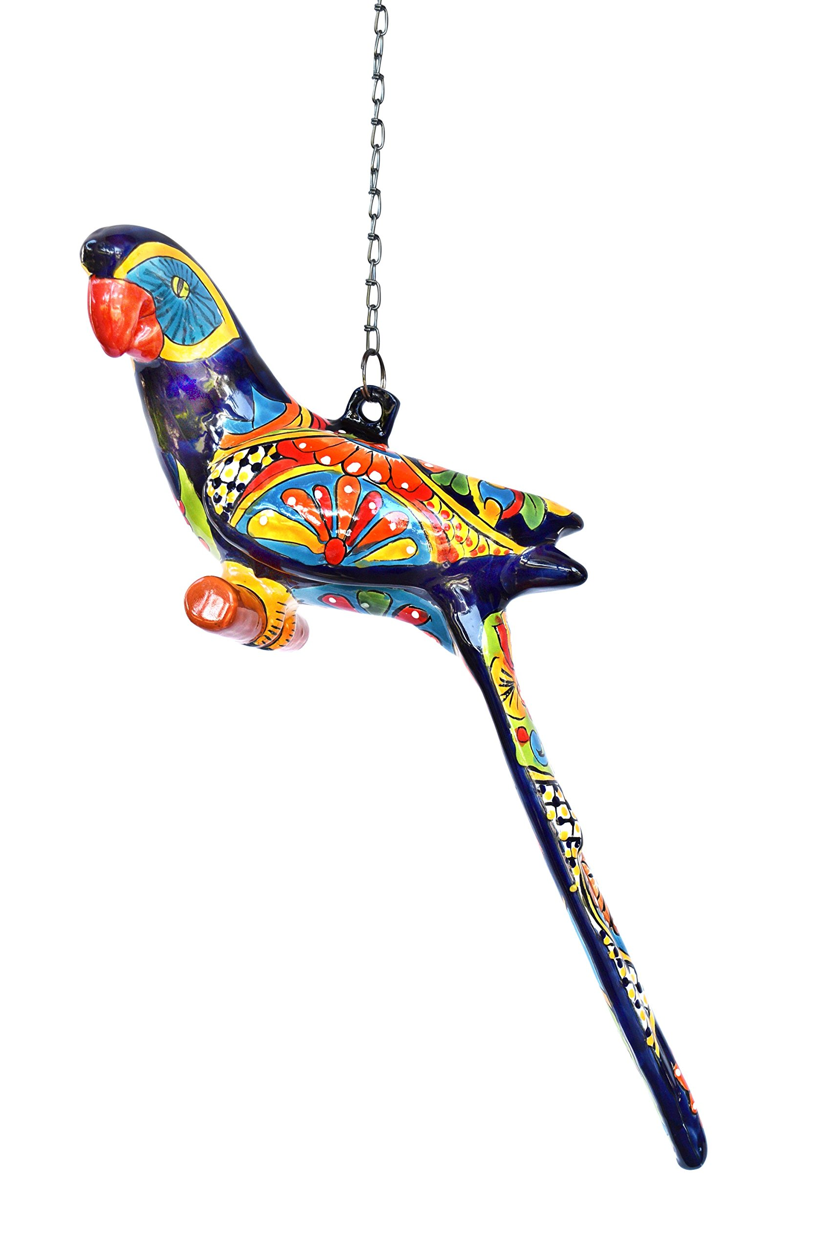 Parrot Ceramic Talavera Hanging Ceiling Patio Decoration Home Kitchen Patio Garden Decor
