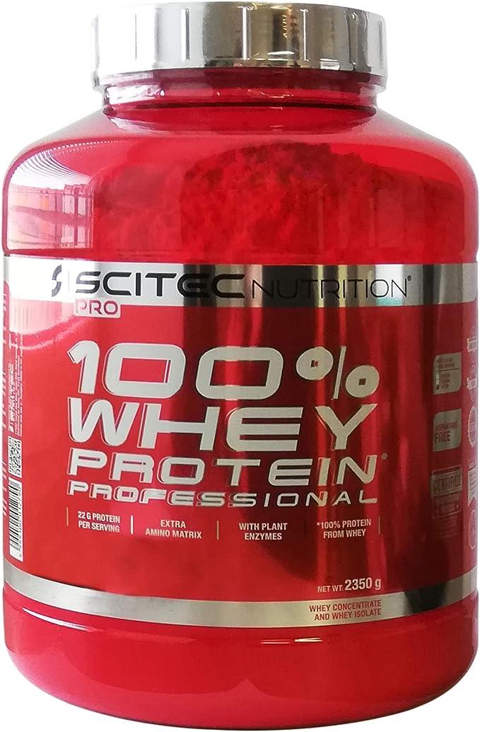 Scitec Nutrition 100% Whey Protein Professional 2350g 1 paquete de proteína de suero de leche en polvo en polvo (Caramel)