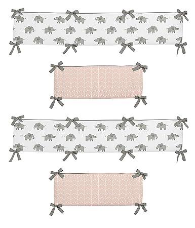 Amazon.com: Sweet Jojo Designs Blush - Cojín para cuna de ...