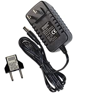 HQRP Battery Charger for Bissell 23T6 23T6A 26507 2670 26702 26706 26707 2670C 2670D 2670Q 2680 2680B 2800 2880 28801 28802 28806 29H8E Sweep Turbo Vac Vacuum AC Adapter Adaptor + Euro Plug Adapter
