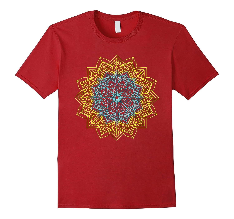 Mens Mandala Yoga T Shirt Purple-Teechatpro