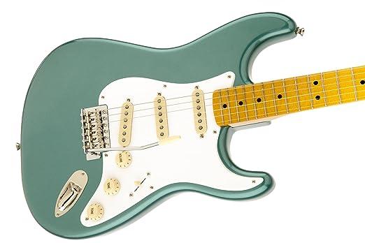 Squier por Fender Stratocaster de la Classic Vibe 50 - Sherwood verde metálico - Diapasón de Palisandro): Amazon.es: Instrumentos musicales
