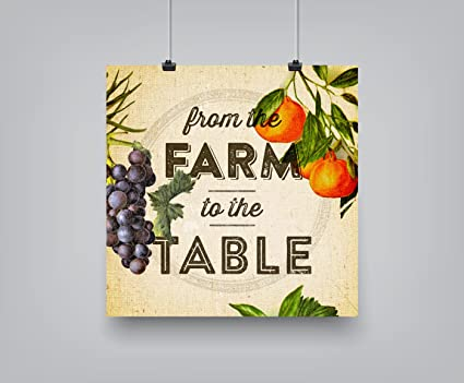 Amazoncom Americanflat Poster Print Farm To Table Set Dallas - Farm to table dallas