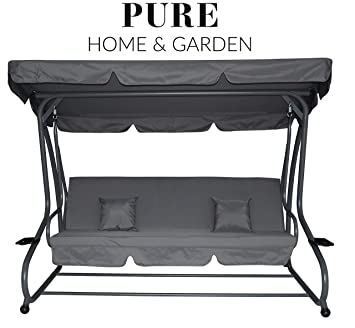 Favorit Amazon.de: Pure Home & Garden 4-Sitzer XXL Hollywoodschaukel mit VL88