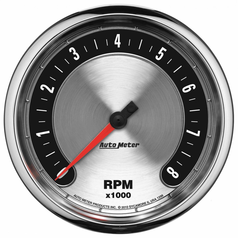 Auto Meter 1299 American Muscle 5 10,000 RPM Tachometer Gauge