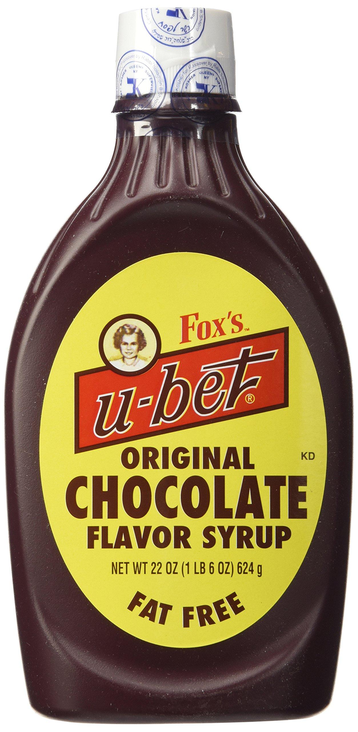 Foxs U Bet Chocolate Syrup, 20 Ounce - 12 per case.