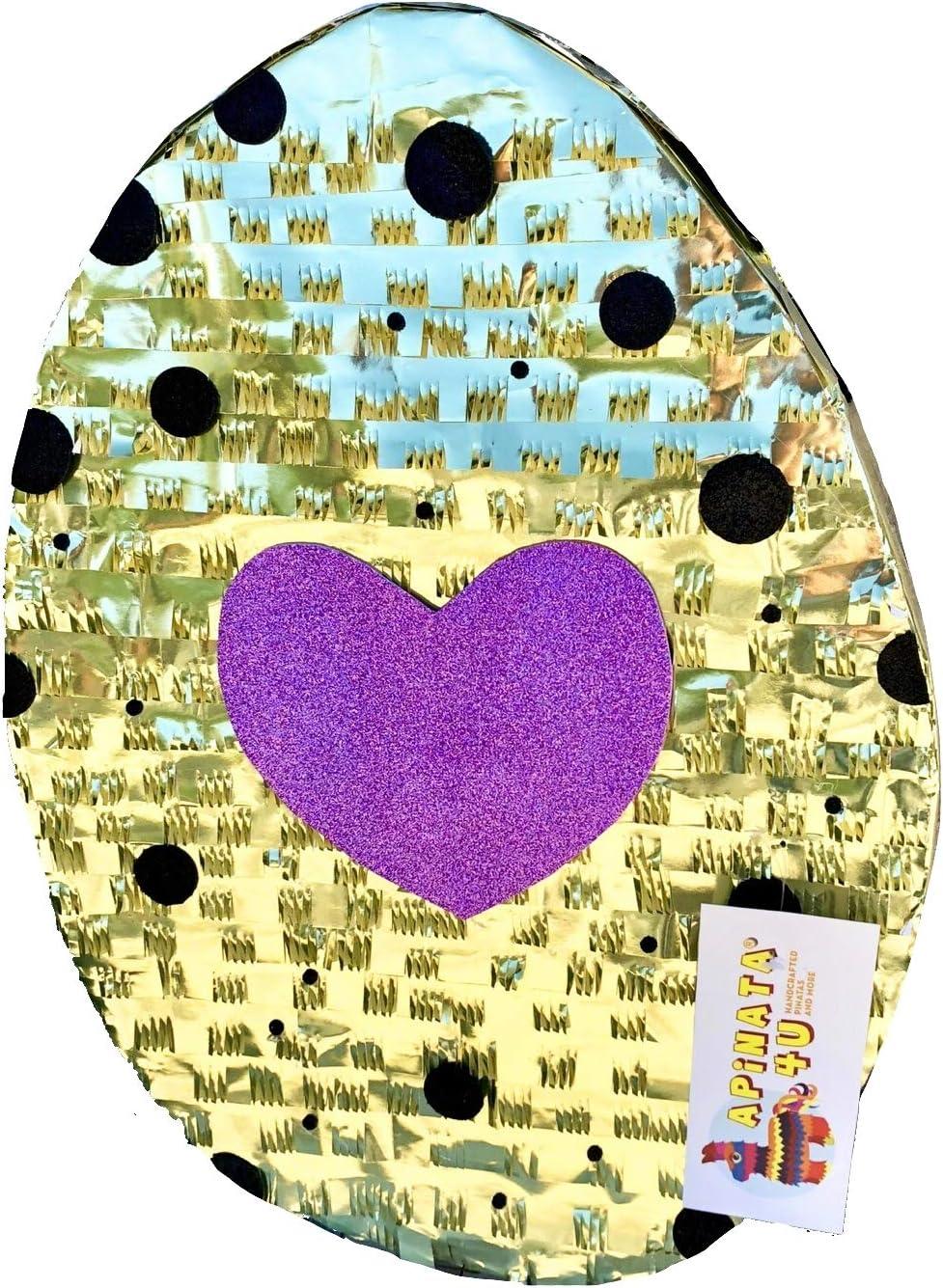 APINATA4U Unicorn Pinata with gold hearts