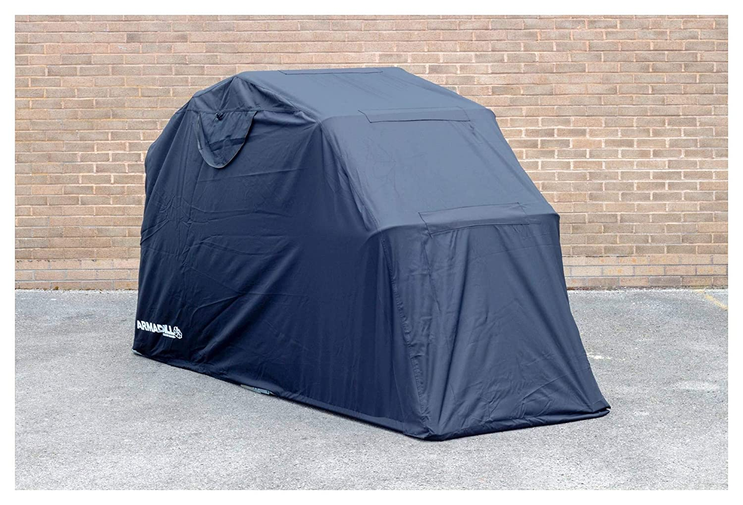 Armadillo Motorcycle Garage Shelter - Motorbike Waterproof Outdoor Cover Small (270cm X 105cm X 155cm)