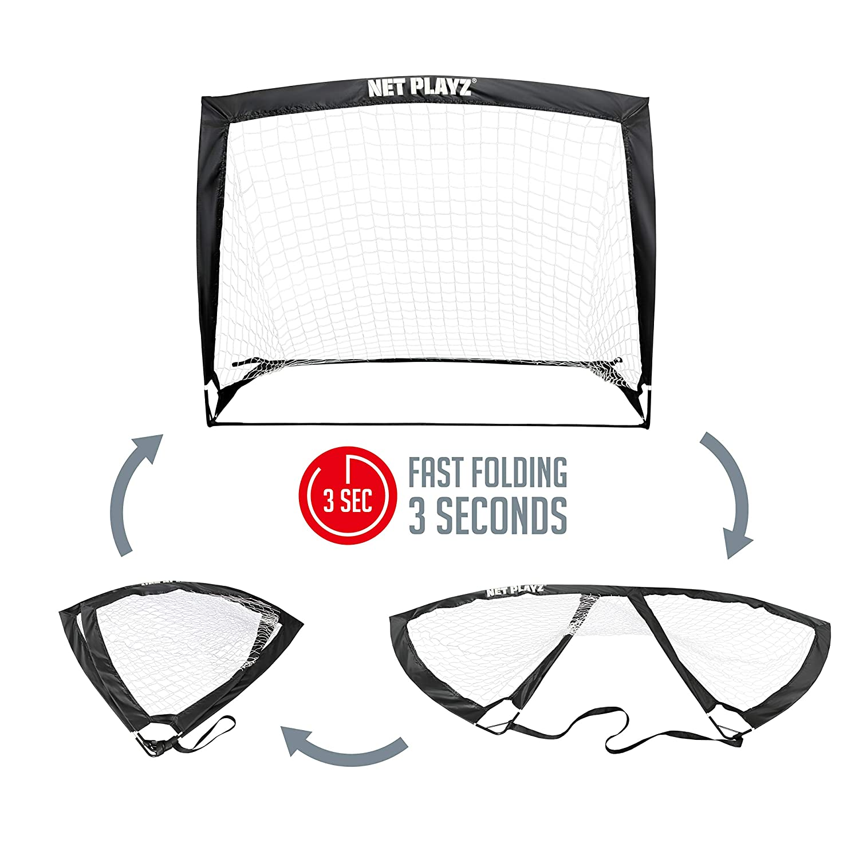 de9c1e70cbbf Amazon.com   NET PLAYZ 4ftx3ft Easy Fold-Up Portable Training Soccer Goal