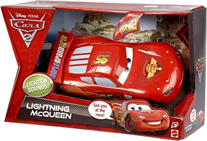 Amazon Com Cars 2 Lights Sounds Lightning Mcqueen Toys Games