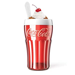 Zoku Coca-Cola Float & Slushy Maker, Retro Make and Serve Cup with Freezer Core Creates Single-serving Smoothies, Slushies and Milkshakes in Minutes, BPA-free