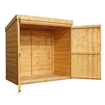 4 x 2 cobertizo de madera unidad de almacenamiento para jardín, puerta doble, Store