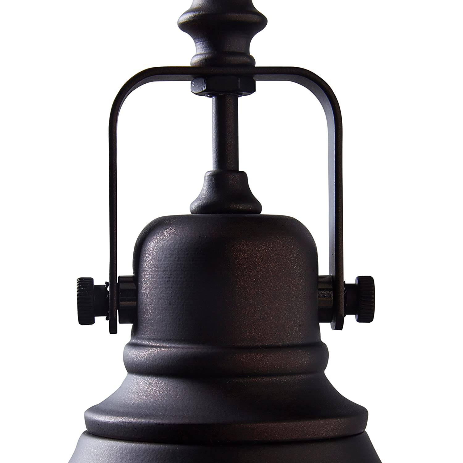Stone /& Beam Industrial Grill Pendant With Bulb 15-63H Oil-Rubbed Bronze