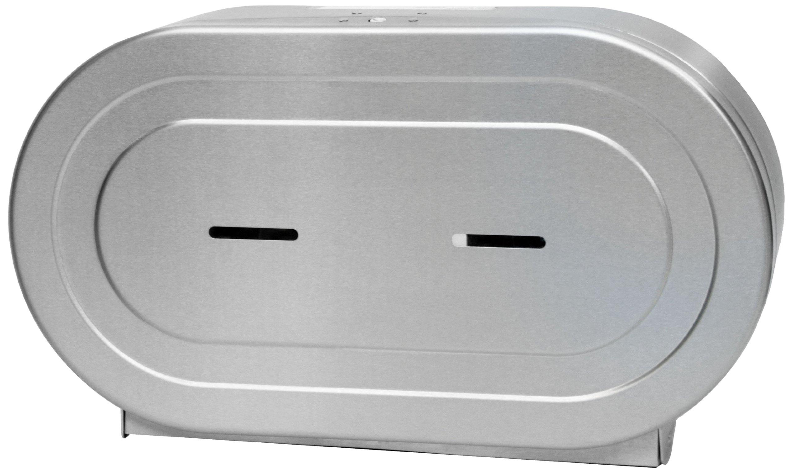 Palmer Fixture RD0327-09F Twin Jumbo Stainless Tissue Dispenser, Brushed Stainless by Palmer Fixture