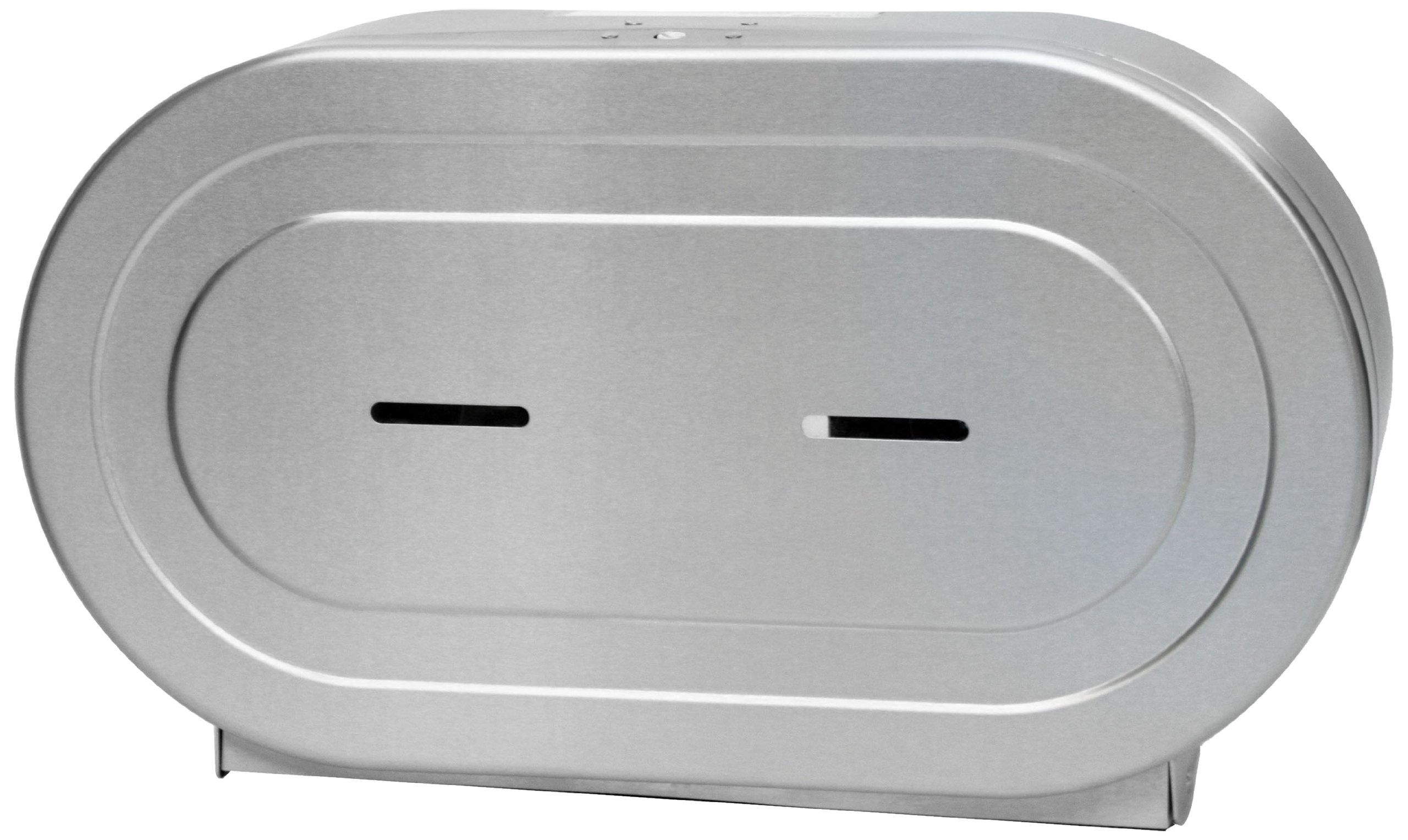 Palmer Fixture RD0327-09F Twin Jumbo Stainless Tissue Dispenser, Brushed Stainless