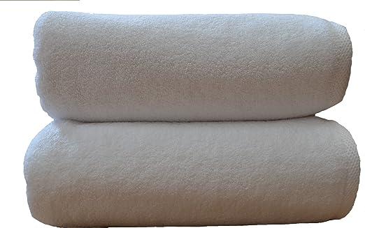2 toallas de baño de lujo 100x150 cm, 850 g/m2, 100% de algodón ...