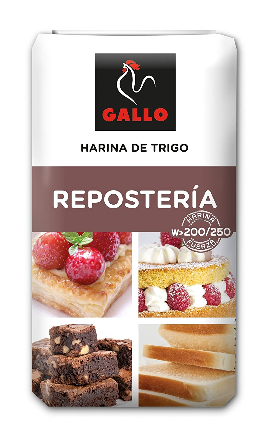 Gallo harina reposteria paquete 1000 gr. - [Pack de 5]: Amazon.es ...