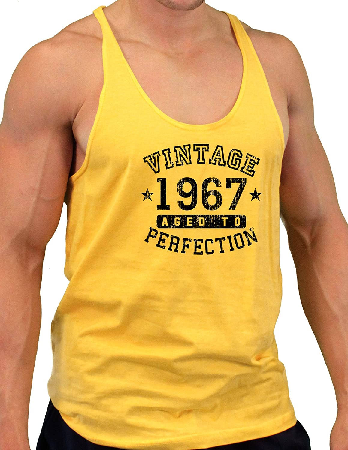 Vintage Birth Year Mens String Tank Top Brand TooLoud 1967