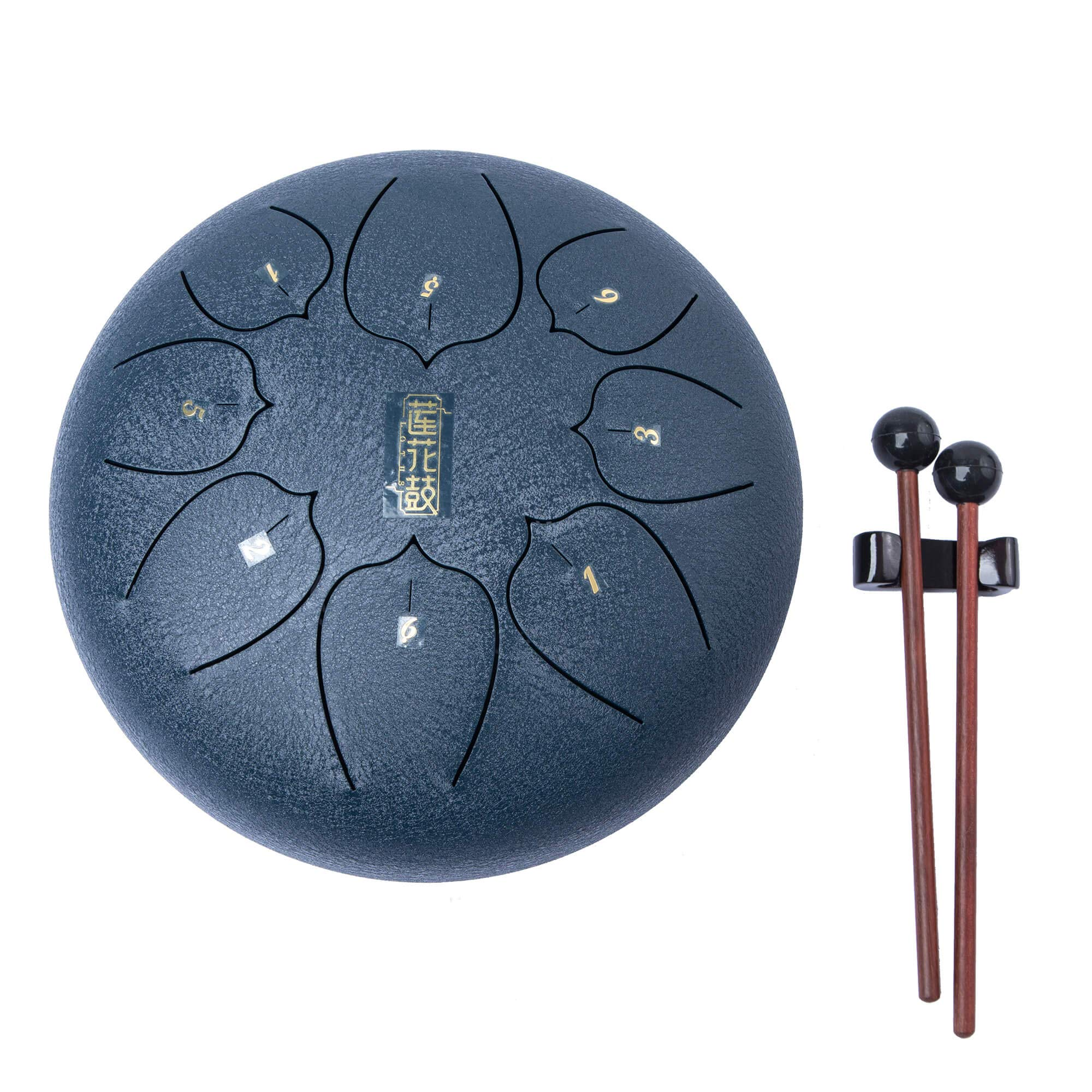 Handpan Tongue Drum 8 Notes 8 Inches Chakra Tank Drum Steel Percussion Hang Drum Instrument with Padded Travel Bag and Mallets Blue (8) by sz