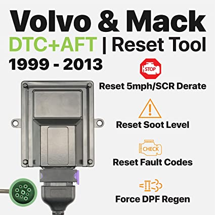 OTR Performance Volvo Mack 1999-2013 | Heavy Duty Diagnostic Tool | Forced  DPF Regen | Reset Soot Level | Reset SCR Derate | Volvo D11 D13, Mack MP7,