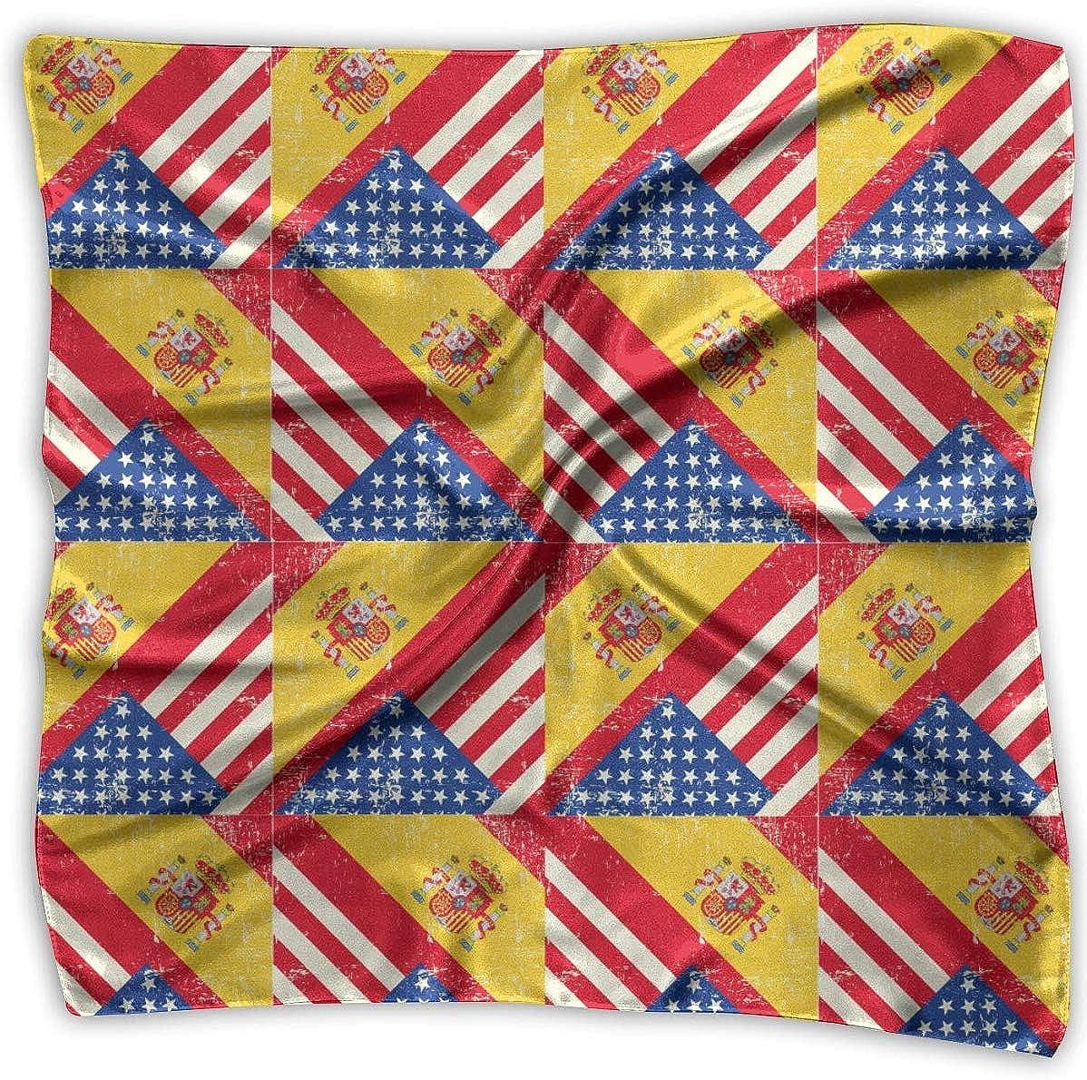 not applicable USA Bandera de España Americana Pañuelos cuadrados Bufanda Chal Pañuelos Pañuelo en la cabeza Pañuelo para el cuello: Amazon.es: Ropa y accesorios
