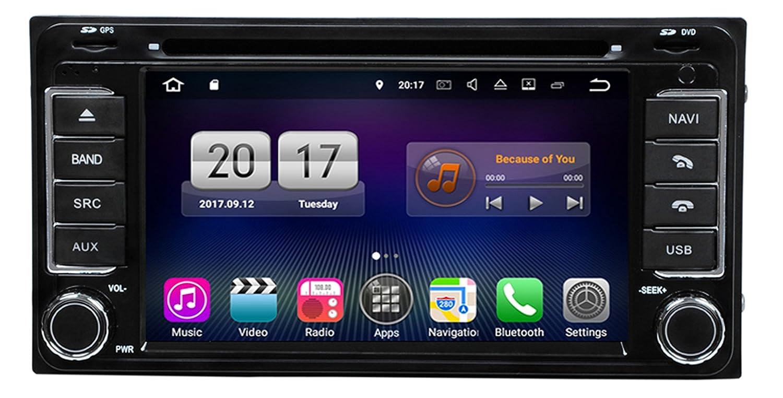 RoverOne Android 7.1システムカーDVD GPSナビゲーションFor Toyota RAV4 Corolla Hilux Fortuner RunX With ラジオブルートゥースSD USBタッチスクリーン B0791CSTYG