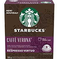 Starbucks by Nespresso Caffè Verona Coffee Pods, Dark Roast, Nespresso Vertuo Line Compatible Capsules, 4 X 8 Coffee…