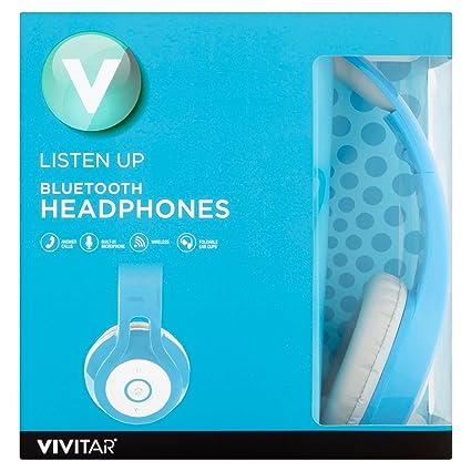 e49f4bfc43b Amazon.com: Vivitar Listen Up Bluetooth Over Ear Headphones (Blue): Home  Audio & Theater