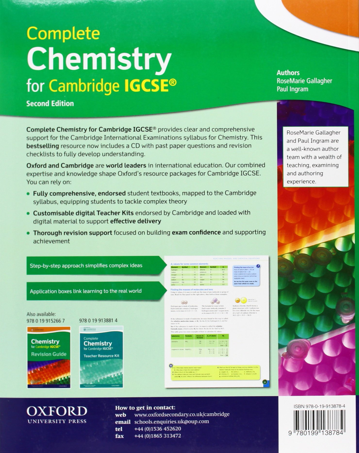 Amazon complete chemistry for cambridge igcserg with cd rom amazon complete chemistry for cambridge igcserg with cd rom second edition 9780199138784 ingram gallagher books fandeluxe Gallery